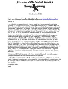 FOCS - President's - Early June 2020 Message