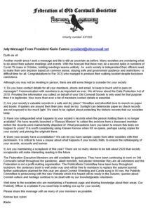 FOCS - President's - July 2020 Message