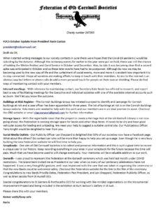 FOCS - President's October 2020 Message